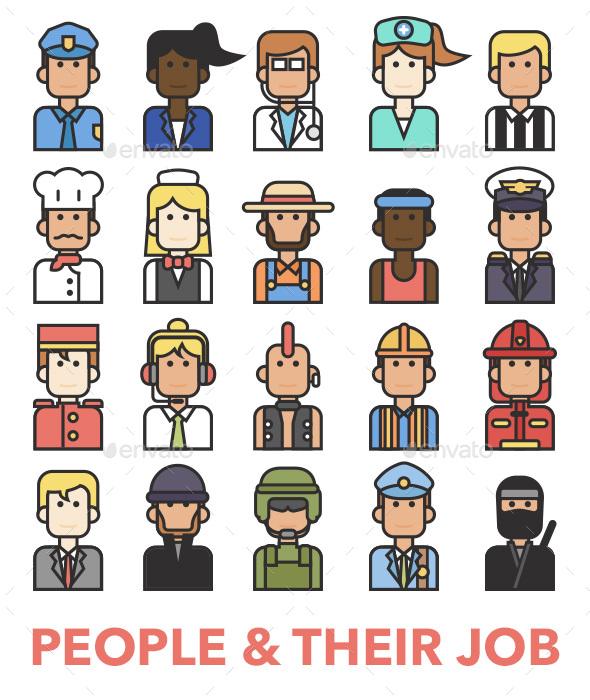 20 People Profession Avatar