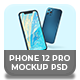 Smartphone 12 Pro Mock-ups PSD in 3 Colors