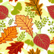 Autumn leaves seamless pattern - GraphicRiver Item for Sale