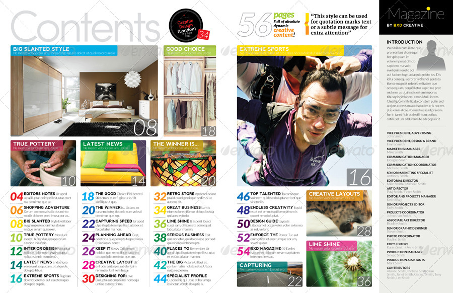 Magazine template indesign 56 page layout v2 by boxedcreative magazine template indesign 56 page layout v2 maxwellsz