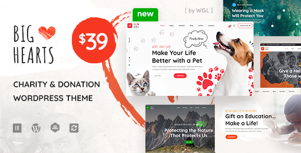 BigHearts – Charity & Donation WordPress Theme