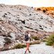 Hiker woman with backpack on trekking trail, travel and active lifestyle concept - PhotoDune Item for Sale