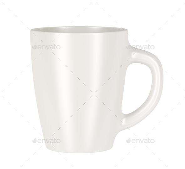 White ceramic mug - Stock Photo - Images