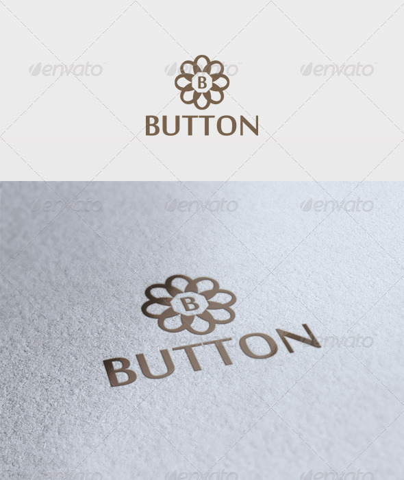 Button Logo - Letters Logo Templates