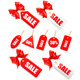 Big set of sales tags with red gift bows - GraphicRiver Item for Sale
