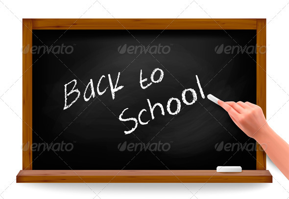 Back to school. Hand writing on a blackboard.  - Concepts Business