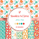 12 Love and Flowers Seamless Patterns