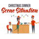 Christmas dinner - Scene Situation - VideoHive Item for Sale