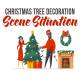 Christmas tree decoration - Scene Situation - VideoHive Item for Sale