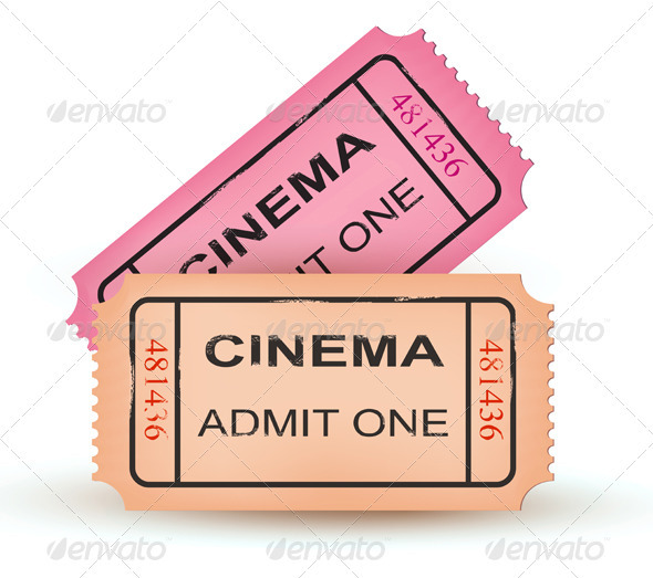Two cinema tickets. Vector illustration  - Concepts Business
