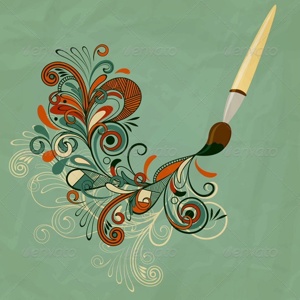Painting  Brush  - Backgrounds Decorative