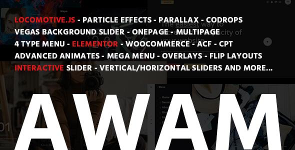 Marvelous Awam - Agency Portfolio WordPress Theme