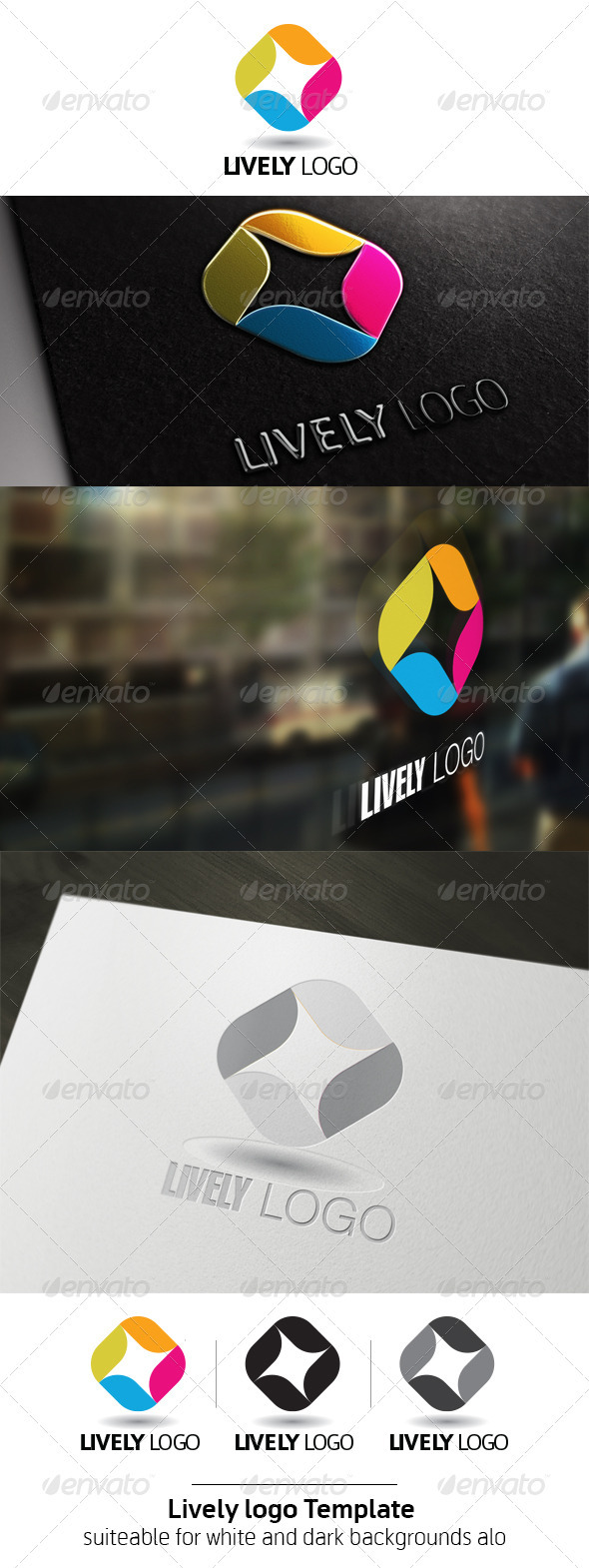 Lively Logo Template  - Vector Abstract