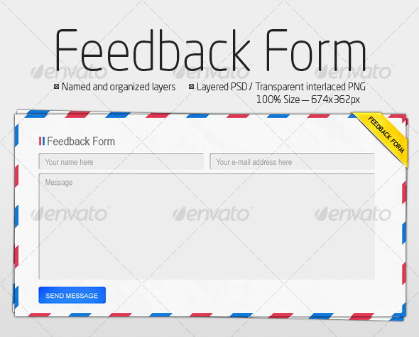 E-mail form illustration 2 - Forms Web Elements