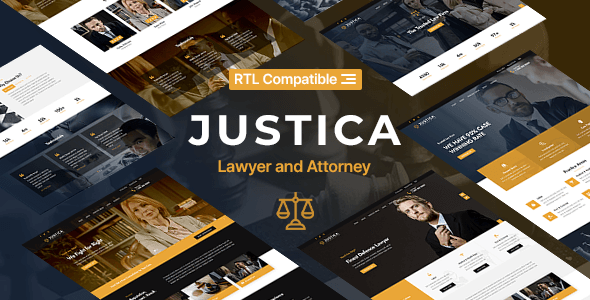 Justica – Lawyer, Attorney and Law Firms Website Template