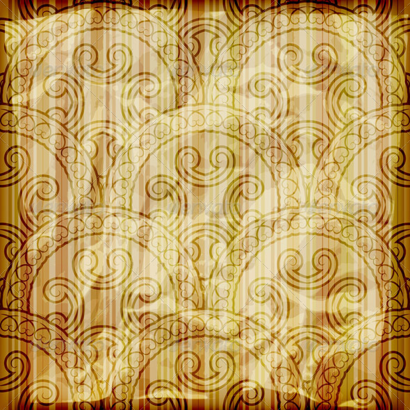 Vector Abstract Pattern Of Golden Foil - Patterns Decorative