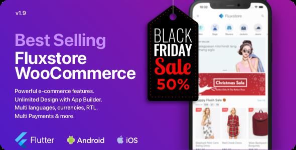 Fluxstore WooCommerce - Flutter E-commerce Full App Nulled