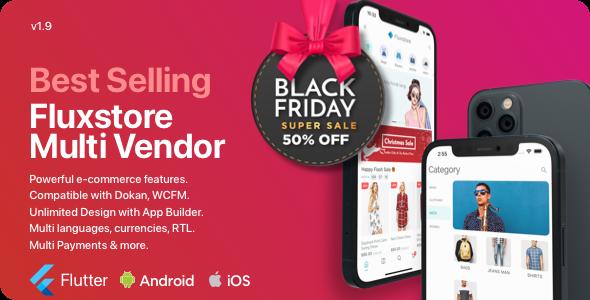 Fluxstore Multi Vendor - Flutter E-commerce Full App Nulled