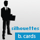 Silhouettes Business Cards very flexible - GraphicRiver Item for Sale