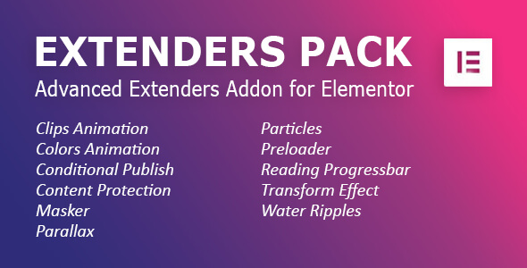 Download Extenders Pack: Advanced Extenders Addon for Elementor WordPress Plugin Free Nulled