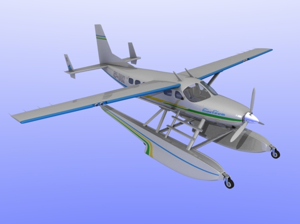 Cessna Caravan Amphibian - 3DOcean Item for Sale