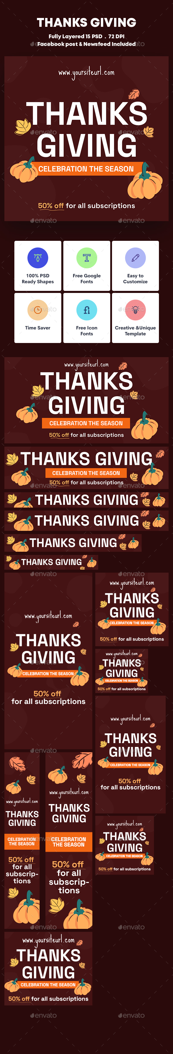 Thanks Giving Banners Ad
