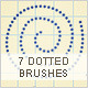 7 Dotted Lines Brushes - GraphicRiver Item for Sale