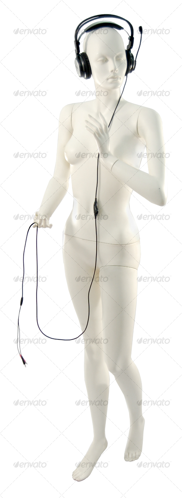 Mannequin with Headphones - Clothes & Accessories Isolated Objects