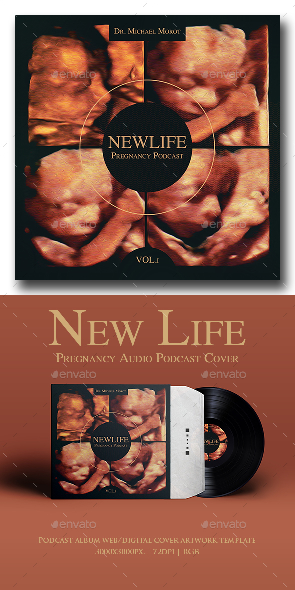 New Life Pregnancy Audio Podcast Album Cover Template
