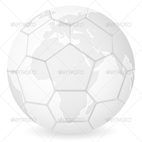 World map soccer ball - Sports/Activity Conceptual