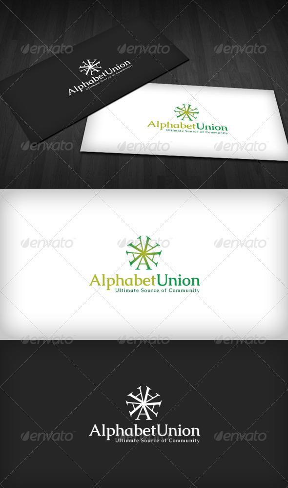Alphabet Union Logo - Letters Logo Templates