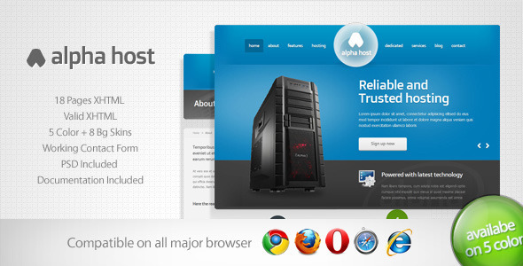 Alpha – Modern Hosting Template