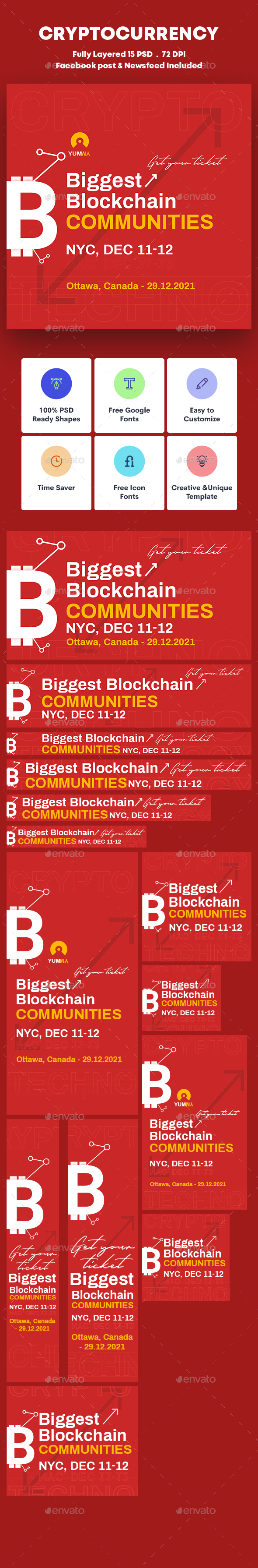 Cryptocurrency Banners Ad