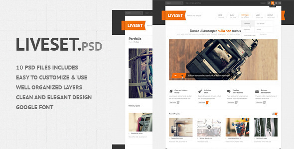 Liveset – Modern and Clean PSD Theme