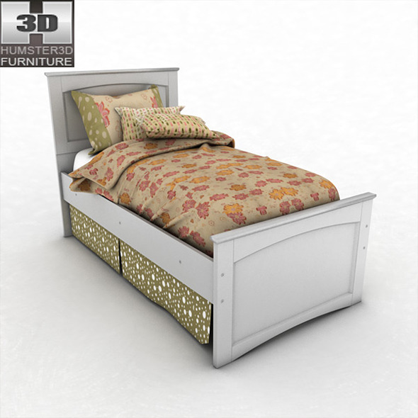 Ashley Sandhill Panel Bed
