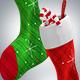 Christmas Socks 3D Renders