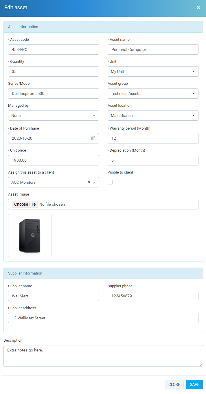 Assets Management module for Perfex CRM - 2