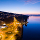 Aerial night view of Evian (Evian-Les-Bains) city in Haute Savoie in France - PhotoDune Item for Sale