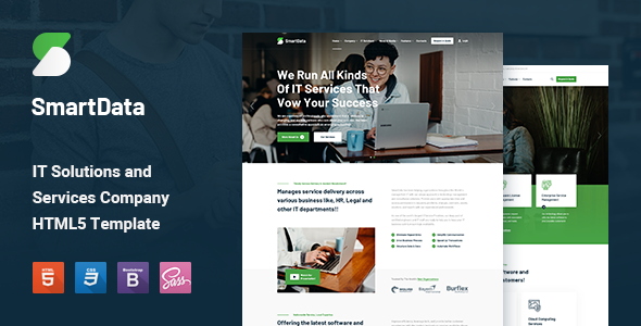 Fabulous Smartdata - IT Solutions & Services HTML5 Template
