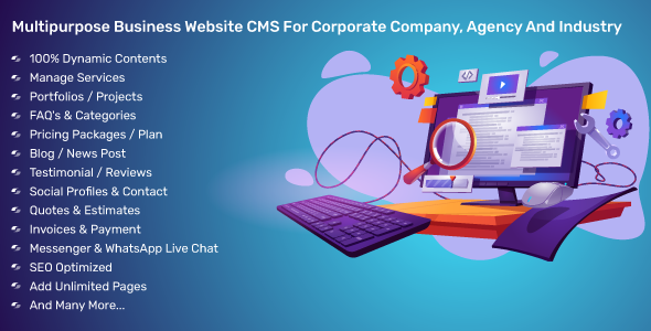 Multipurpose Business Website CMS For Corporate Company, Agency And Industry
