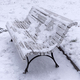 Bench In The Park Covered With Snow. - PhotoDune Item for Sale