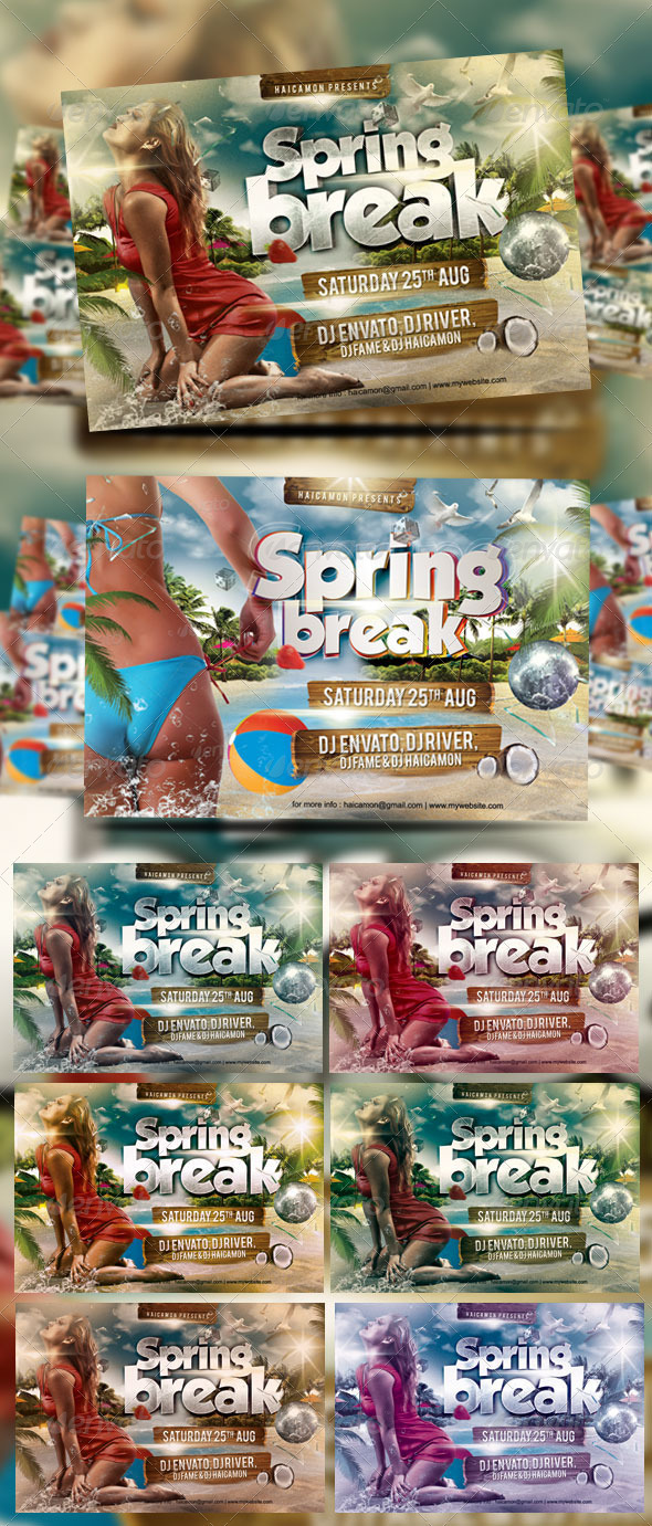 Spring Break Party Flyer Vol_11 - Events Flyers