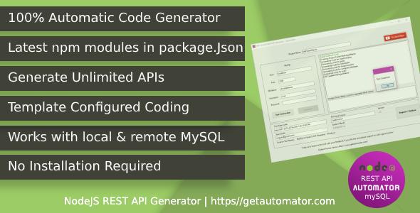 Automatic REST API Generator - NodeJS MySQL CRUD REST API With Postman
