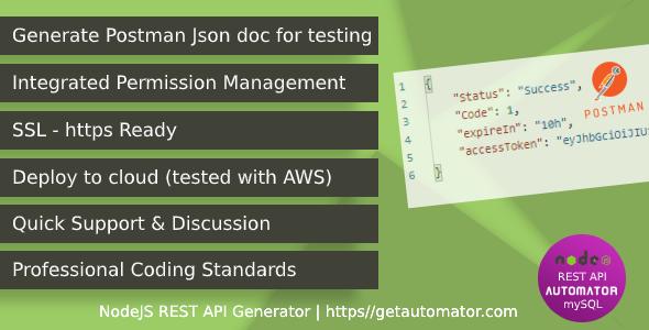 MySQL REST API Generator - Node JS MySQL CRUD REST API