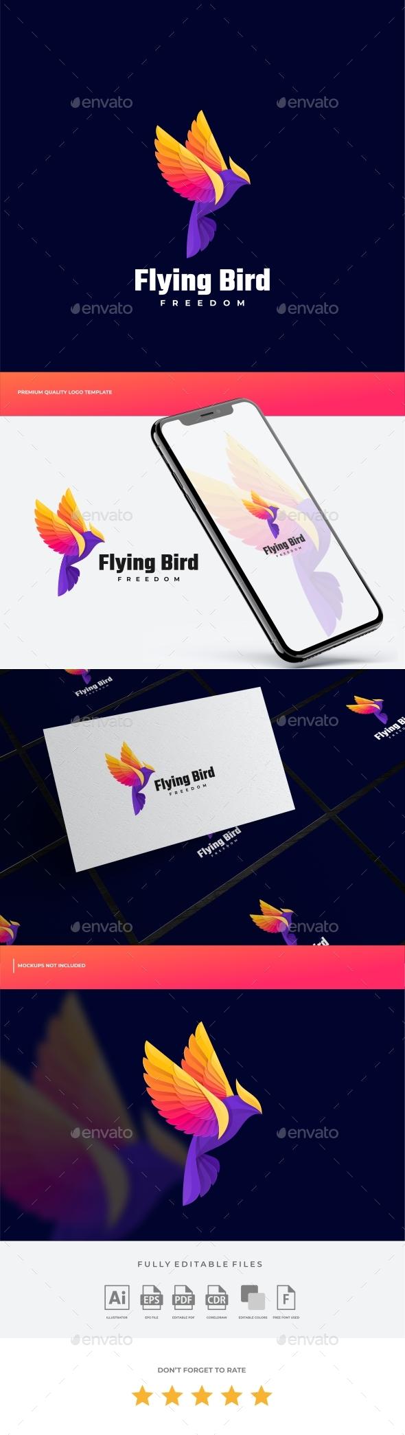 Eagle Gradient Colorful Logo Template