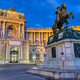 The Prinz Eugen Statue with part of the Hofburg - PhotoDune Item for Sale