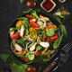 Fresh salad with spinach, chicken, tomatoes, arugula, corn lettuce and onion - PhotoDune Item for Sale