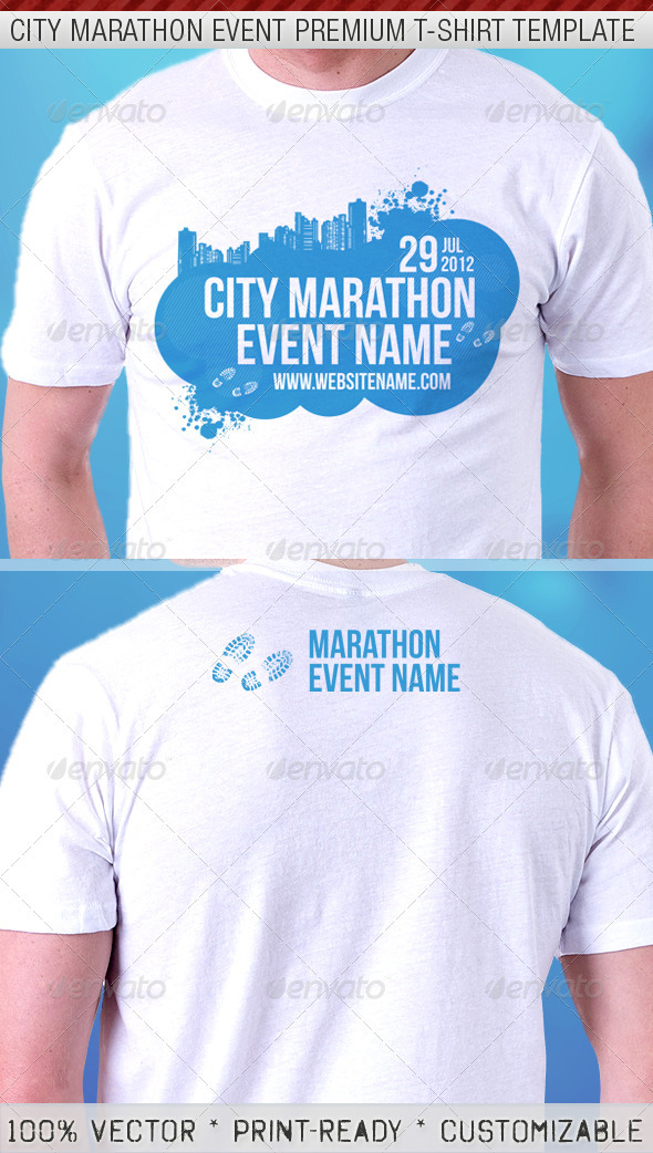 City Marathon Event Premium T-Shirt Template - Events T-Shirts