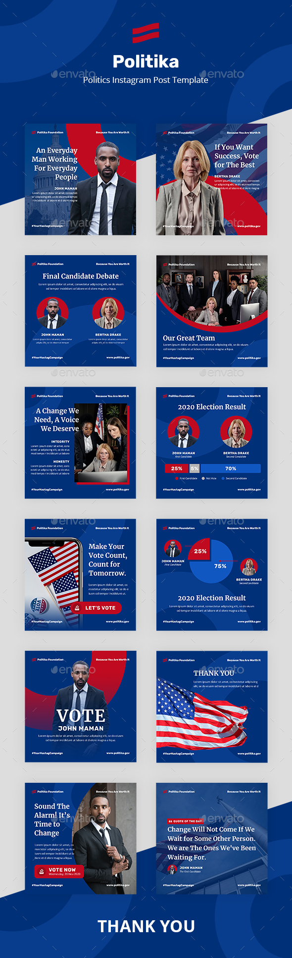 Politika: Politics Instagram Post Template