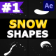 Snow Shapes Pack | After Effects - VideoHive Item for Sale